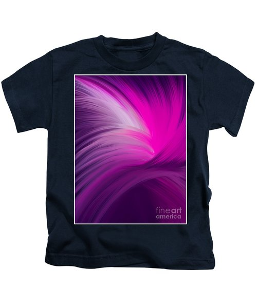 Pink And Purple Swirls Kids T-Shirt