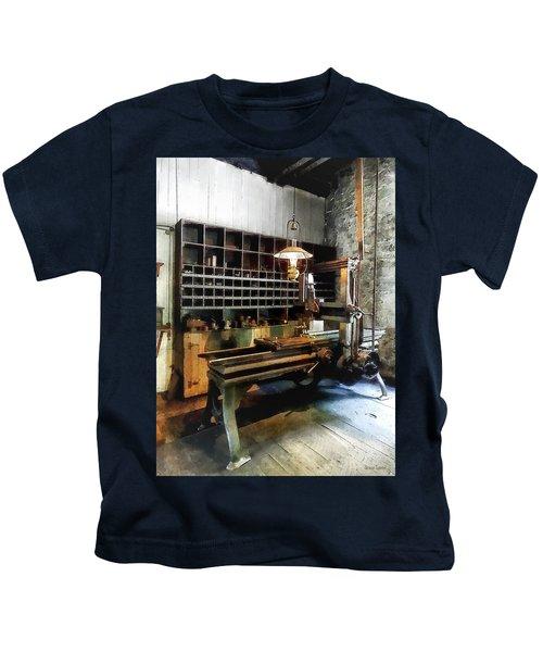 Planer In Machine Shop Kids T-Shirt