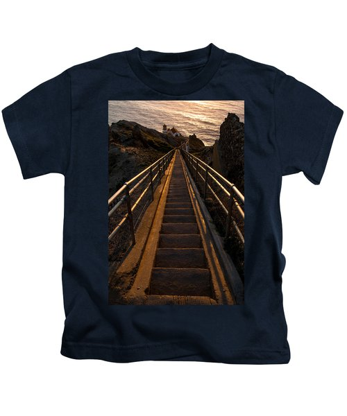 Point Reyes Lighthouse Staircase Kids T-Shirt