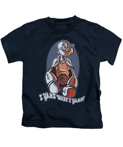 Popeye - I Yams Kids T-Shirt by Brand A