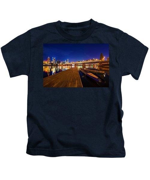 Portland Under The Stars Kids T-Shirt