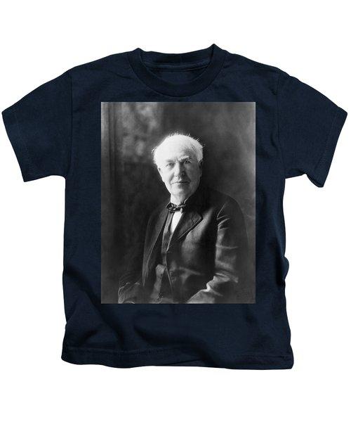 Portrait Of Thomas Edison Kids T-Shirt