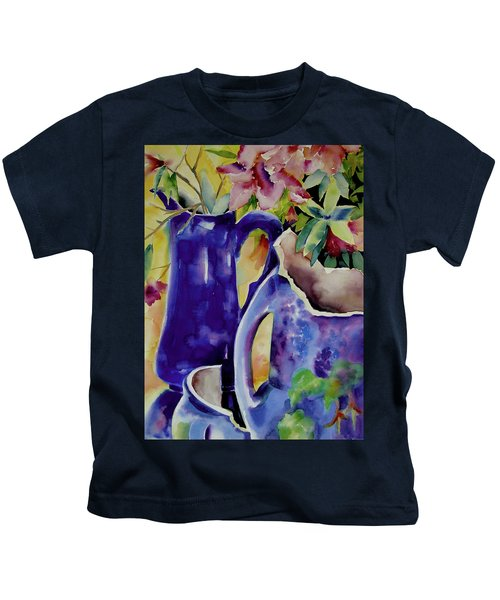 Pottery And Flowers Kids T-Shirt