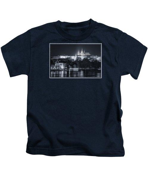 Prague Castle At Night Kids T-Shirt