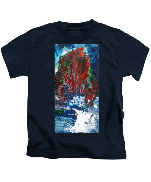Red Fan Coral Kids T-Shirt