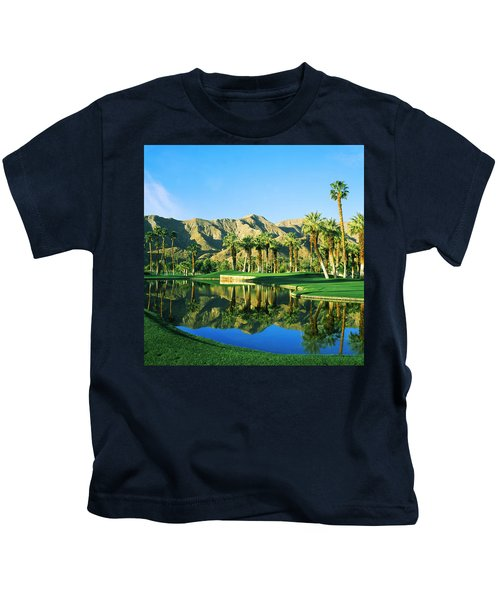 Reflection Of Trees On Water In A Golf Kids T-Shirt