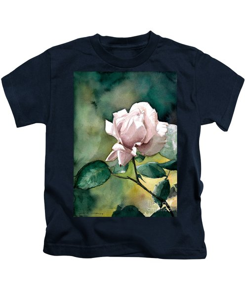 Watercolor Of A Lilac Rose  Kids T-Shirt
