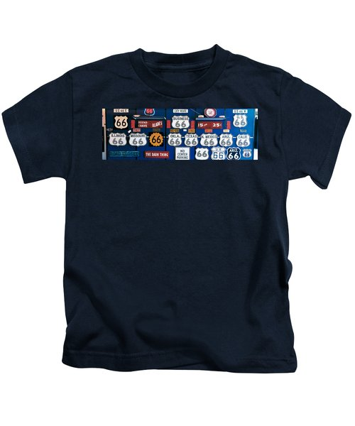 Route 66 Sign Collection Kids T-Shirt