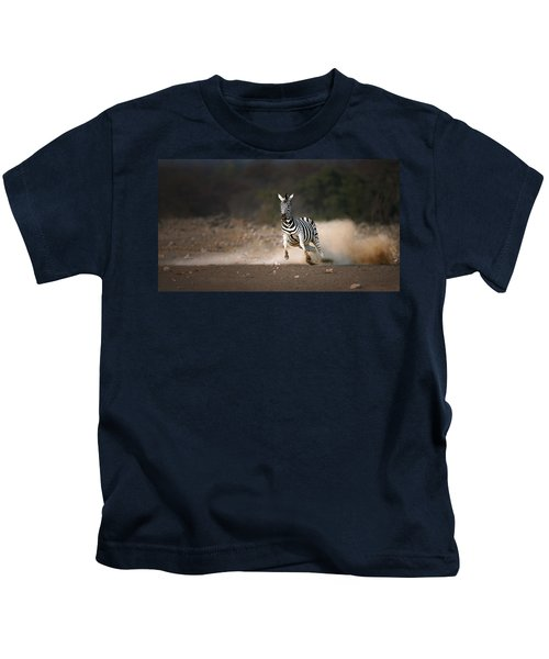 Running Zebra Kids T-Shirt