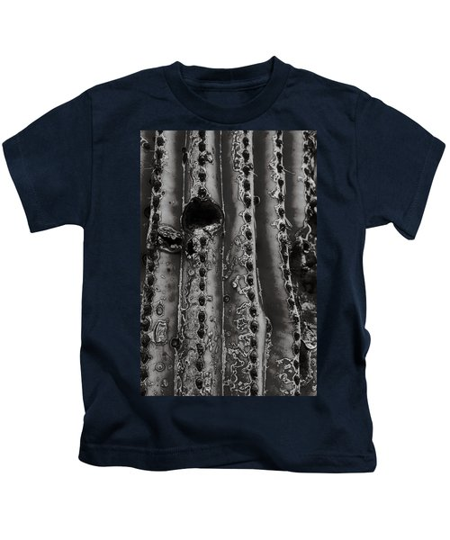 Saguaro Cactus Black And White 1 Kids T-Shirt