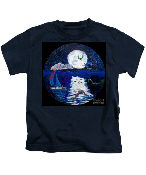 Sailing In The Moonlight Kids T-Shirt