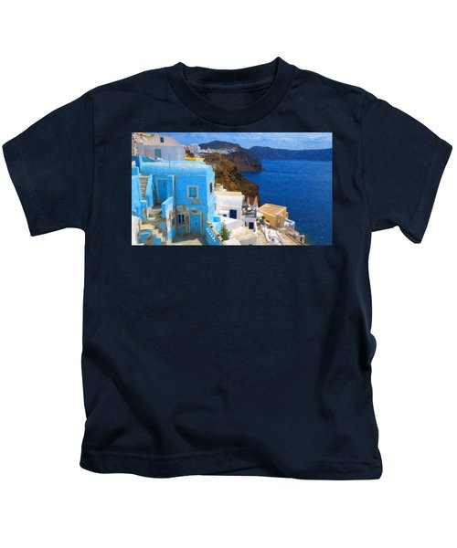 Santorini Grk2806 Kids T-Shirt