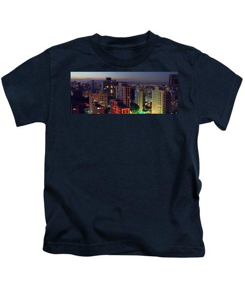 Sao Paulo Downtown At Dusk Kids T-Shirt