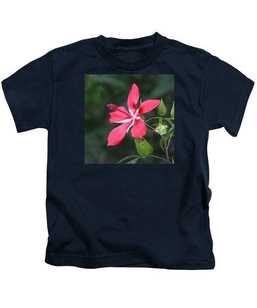 Scarlet Hibiscus #3 Kids T-Shirt