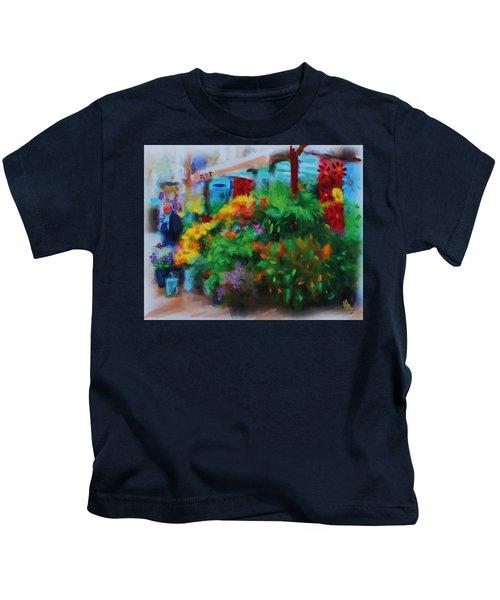 Scene From La Rambla Kids T-Shirt