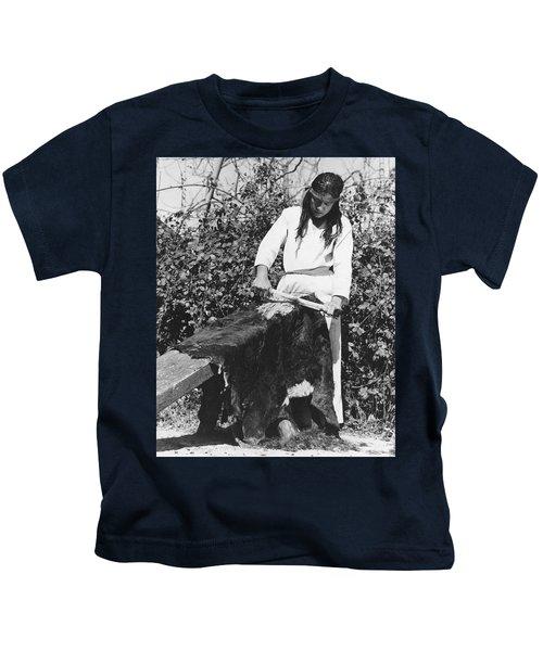 Scraping A Bear Hide Kids T-Shirt