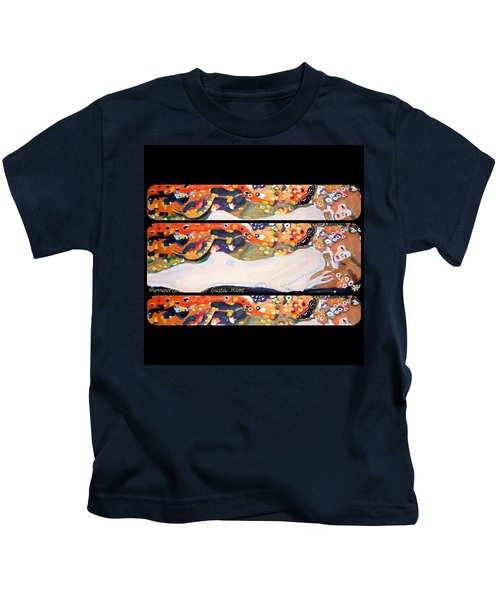 Sea Serpent IIi Tryptic After Gustav Klimt Kids T-Shirt