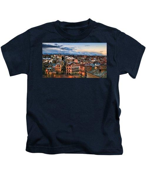 Segovia Nights In Spain By Diana Sainz Kids T-Shirt