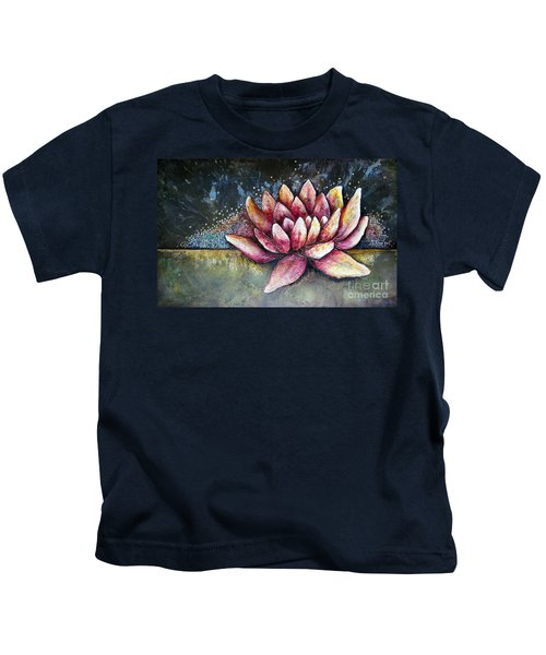 Self Portrait With Lotus Kids T-Shirt