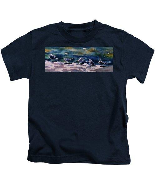 Shoreline Birds Iv Kids T-Shirt