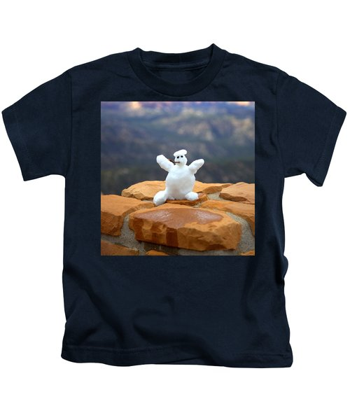 Snowman At Bryce - Square Kids T-Shirt