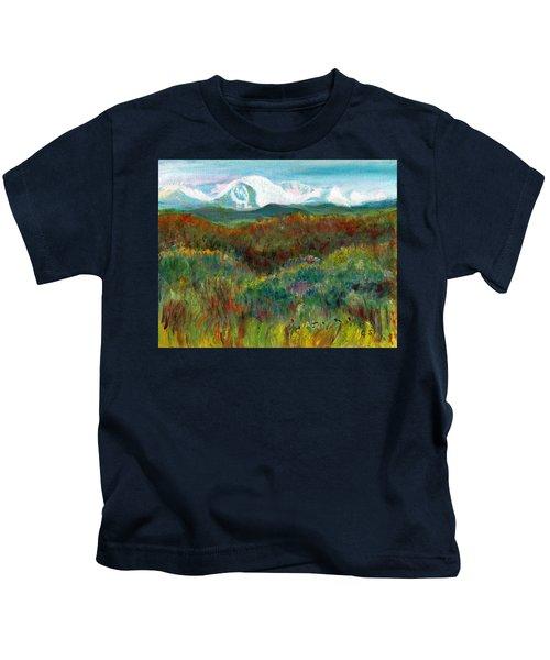 Spanish Peaks Evening Kids T-Shirt