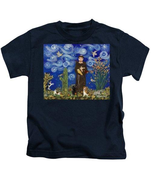 St. Francis Starry Night Kids T-Shirt