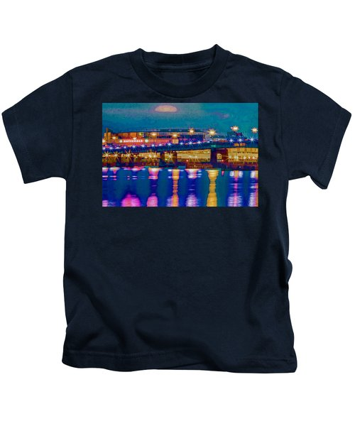 Starry Night At Nationals Park Kids T-Shirt