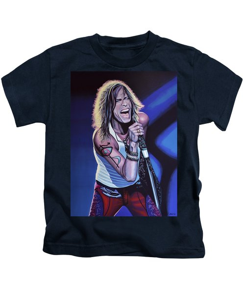Steven Tyler 3 Kids T-Shirt by Paul Meijering