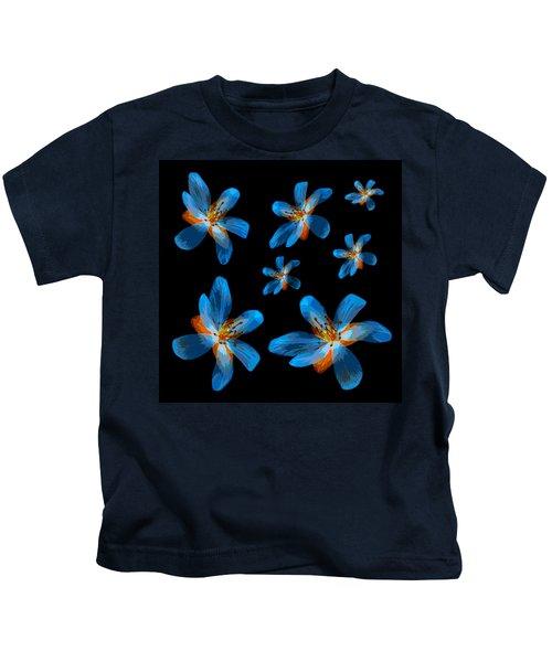 Study Of Seven Flowers #2 Kids T-Shirt