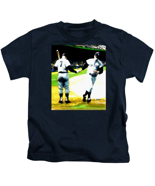Summer Of The Gods  Iv 1961 Mickey Mantle Kids T-Shirt by Iconic Images Art Gallery David Pucciarelli
