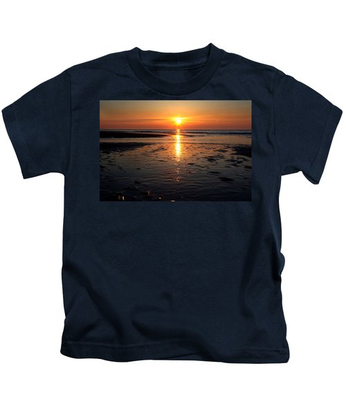 Sundown At The North Sea Kids T-Shirt