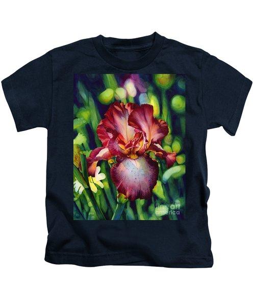 Sunlit Iris Kids T-Shirt