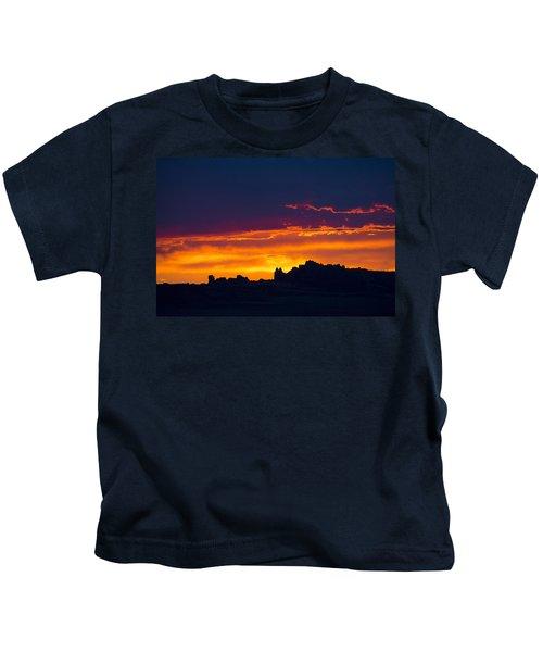 Sunset At Landscape Arch Kids T-Shirt