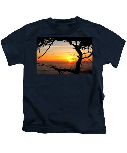 Sunset In A Tree Frame Kids T-Shirt