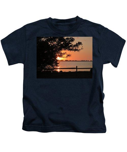 Sunset On Sarasota Harbor Kids T-Shirt