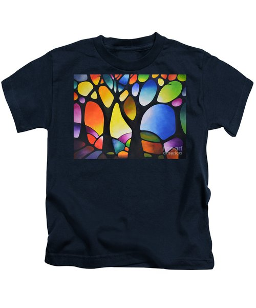 Sunset Trees Kids T-Shirt