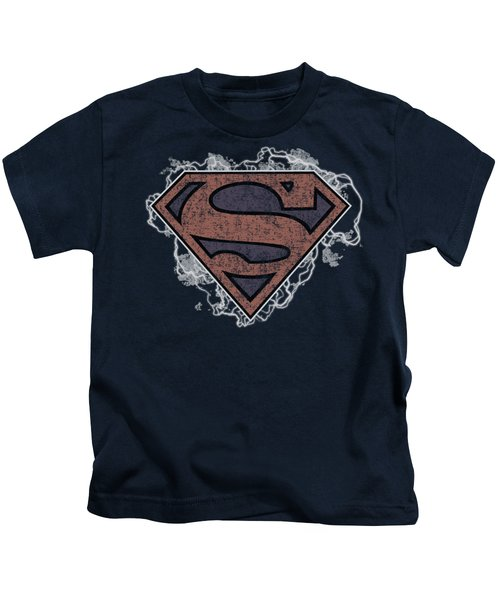 Superman - Storm Cloud Supes Kids T-Shirt by Brand A