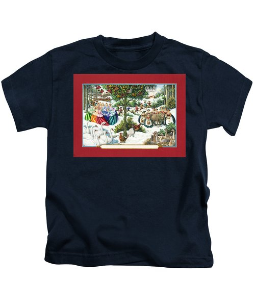 The Twelve Days Of Christmas Kids T-Shirt