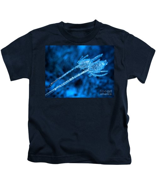 Thistle Plant On Icy Night Kids T-Shirt