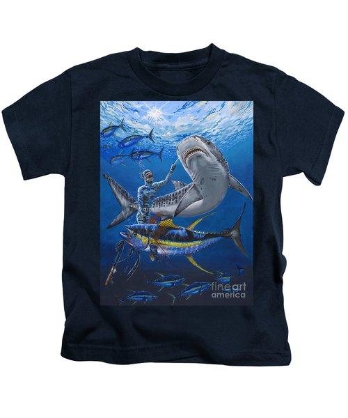 Tiger Encounter Kids T-Shirt by Carey Chen