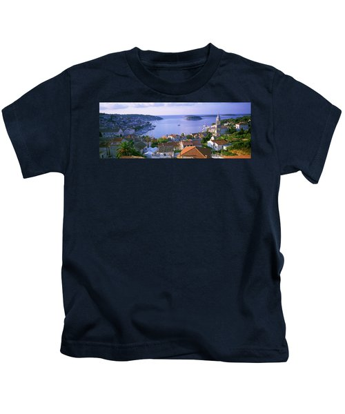 Town On The Waterfront, Hvar Island Kids T-Shirt