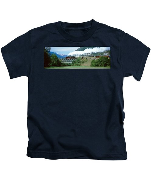 Train On A Bridge, Bohinjska Bistrica Kids T-Shirt