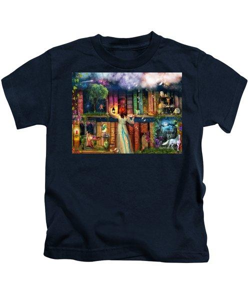 Fairytale Treasure Hunt Book Shelf Variant 2 Kids T-Shirt