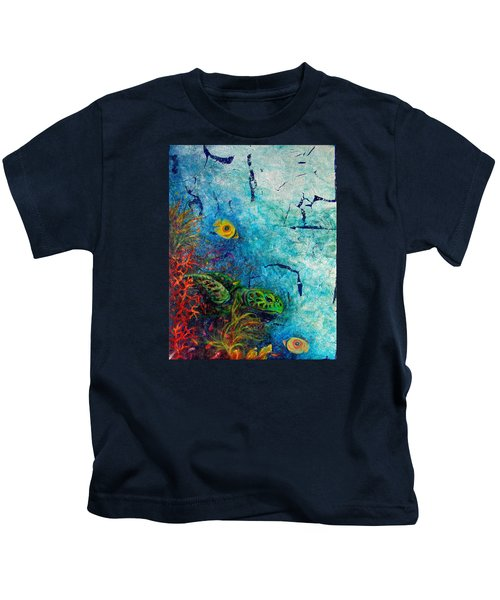 Turtle Wall 1 Kids T-Shirt