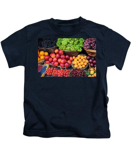 Tuscan Fruit Kids T-Shirt by Inge Johnsson