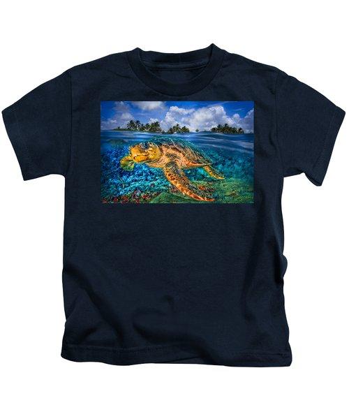 Under The Waves Kids T-Shirt