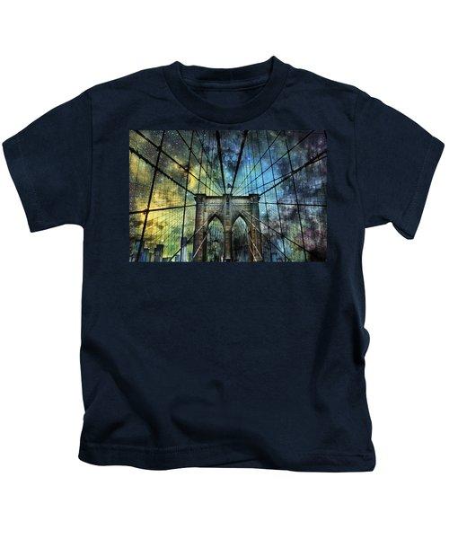 Universe And The Brooklyn Bridge Kids T-Shirt