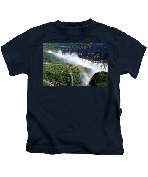 Rainbow Over Victoria Falls  Kids T-Shirt