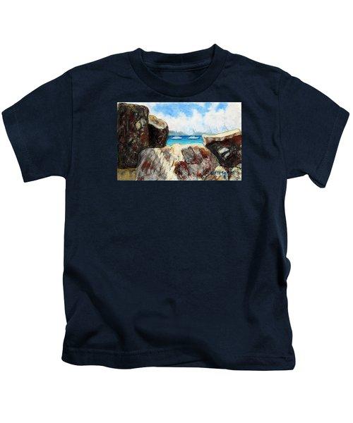 View Of Devil's Bay Kids T-Shirt